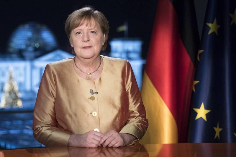 德國總理梅克爾認為,推特封殺川普「有問題」。(美聯社)