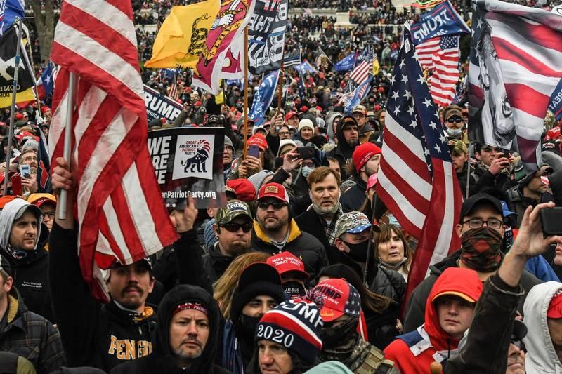 國會暴動引發美國國內外震驚。(路透)