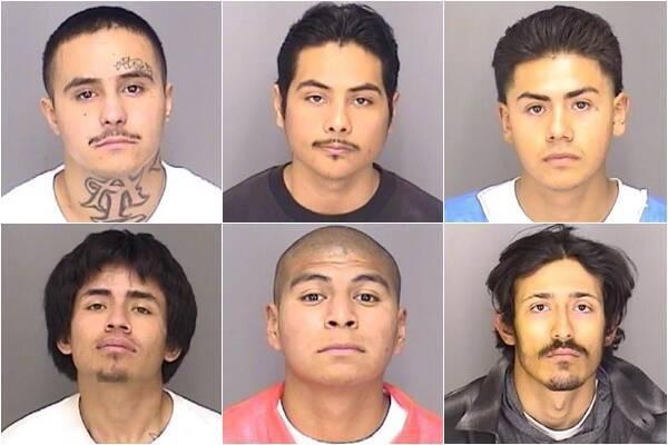 美國加州中部1座監獄近日傳出6名囚犯疑用自製繩索逃脫,目前當局正在尋找他們的下落。圖為巴倫(左上一)、柯羅納多、里恩、小羅德里格茲(左下一)、羅曼與凡圖拉。(圖翻攝自臉書粉專「Merced County Sheriff's Office」)