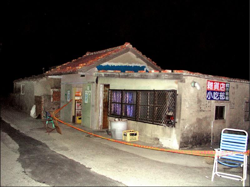 當年案發的小吃店。(資料照)