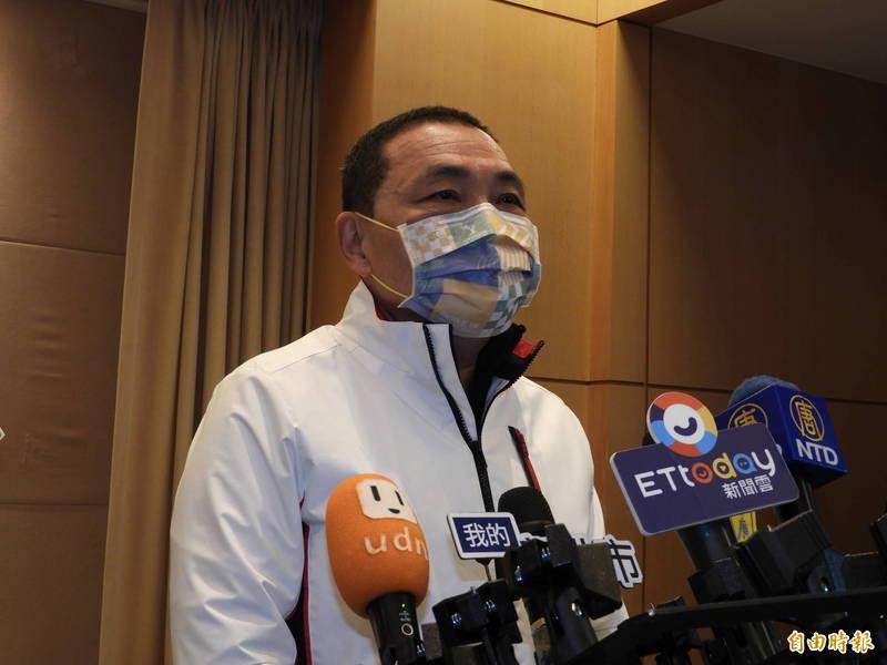 針對新北燈會是否如期舉行,新北市長侯友宜表示,將視疫情發展滾動式檢討。(記者賴筱桐攝)