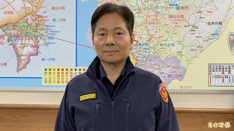 台南市警察局長詹永茂升任警政署警監一階的警政委員。(記者楊金城攝)