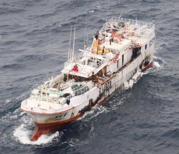 宜蘭縣蘇澳籍漁船永裕興18號,在太平洋中途島海域失聯,船上10名船員生死未卜,救援行動也相當不順利。(家屬提供)