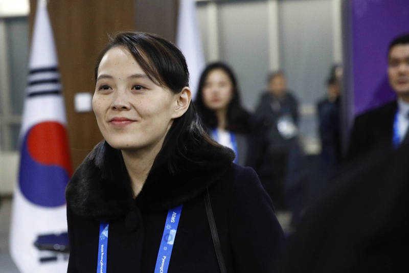 金與正批評南韓關注北韓閱兵是「怪誕離奇」的行為。(美聯社)