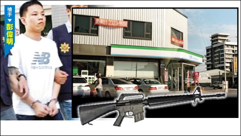 嫌犯彭偉明持圖中同款改造衝鋒步槍(示意圖,翻攝自網路),掃射槍擊案現場在超商附近。(本報記者攝、資料照)