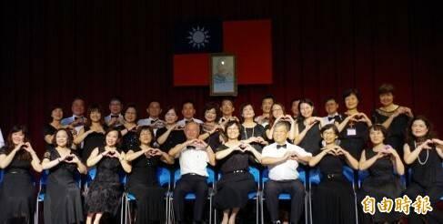 林合(一排左五)與嘉義地檢署同仁,參加台灣更生保護協會歌唱比賽。(資料照,記者王善嬿攝)
