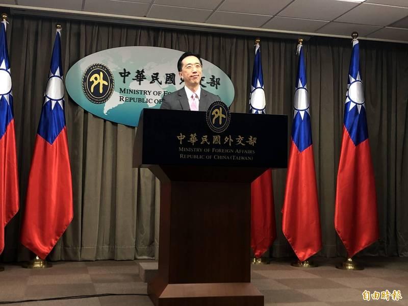 外交部北美司長徐佑典出席例會。(記者呂伊萱攝)