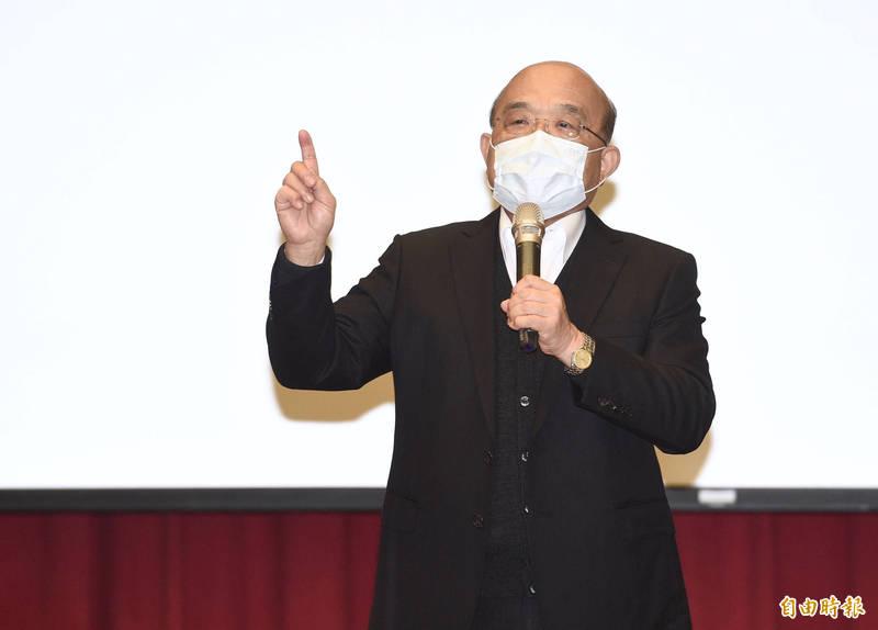 行政院長蘇貞昌今天就任滿2週年,他今天主持行政院院會,細數行政團隊2年來阻擋非洲豬瘟等7個堅持。(資料照)