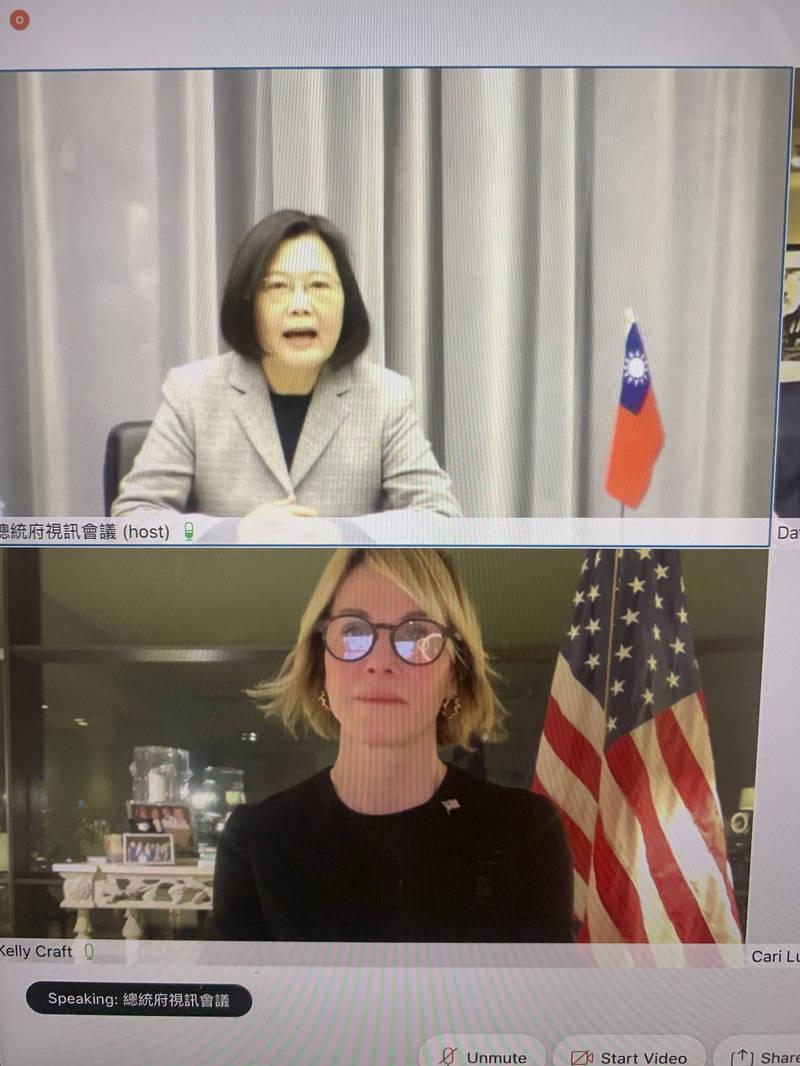 美國駐聯合國大使克拉夫特與蔡總統與進行視訊會談,雙方談及台美關係以及參加聯合國活動等議題,引發中國不滿。(美聯社)