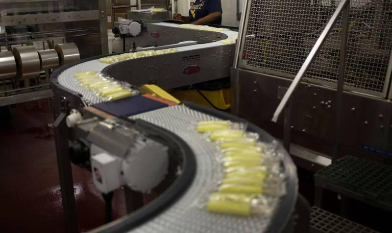 中國天津今天通報,3份雪糕檢出新冠病毒陽性反應。示意圖。(彭博檔案照)