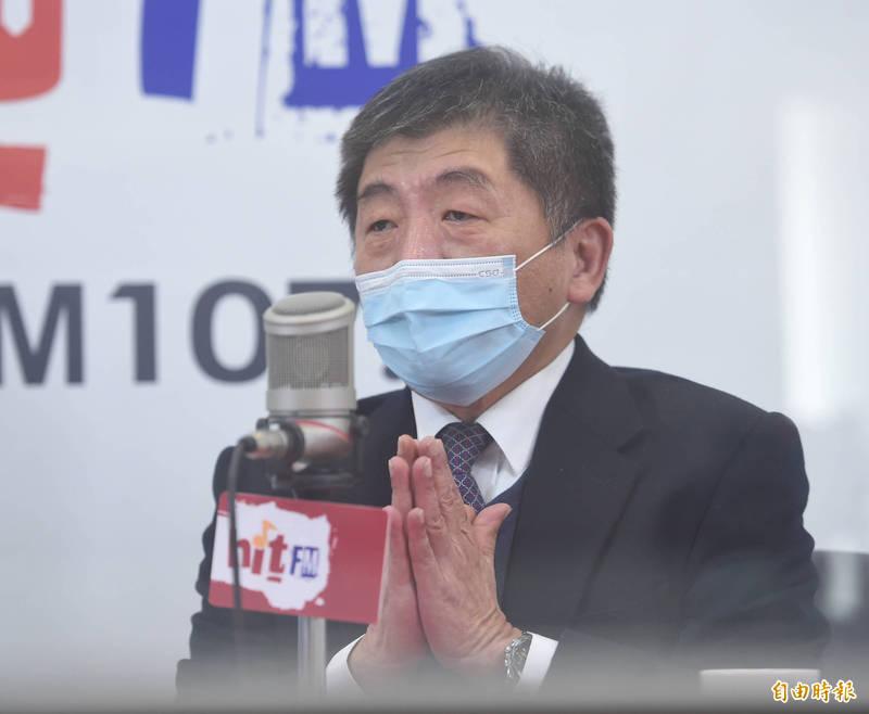 衛福部長陳時中14日一早接受「周玉蔻嗆新聞」節目專訪。 (記者劉信德攝)