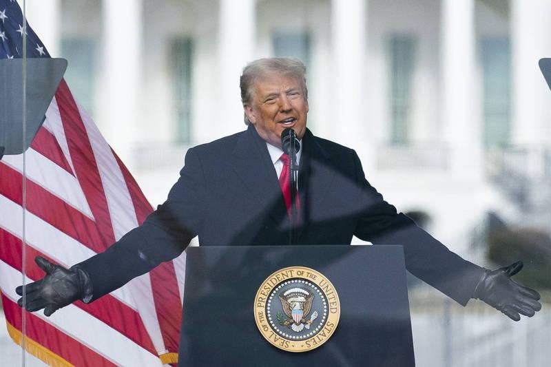 眾議院對美國總統川普提出彈劾案,川普能否安全下莊?(歐新社)