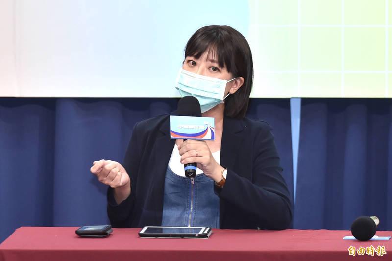國民黨發言人江怡臻。(資料照)