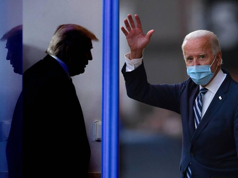 《路透》報導,美國總統川普卸任之後,將在拜登就職當天上午離開華盛頓。(法新社)
