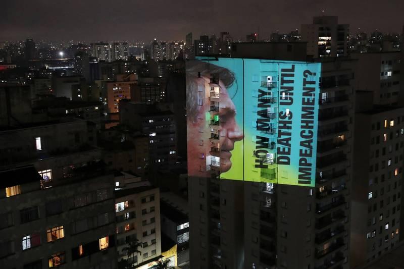 巴西亞馬遜疫情嚴峻,民眾痛批總統波索納洛防疫不力。(路透)