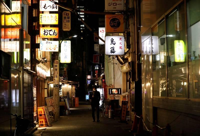 日本今日通報7014例確診,九州福岡縣也增加了新高的411例。(路透)