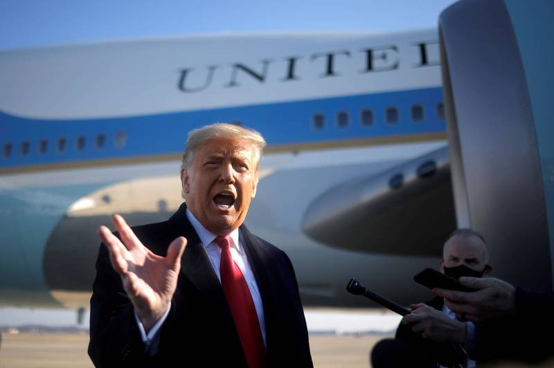 美總統川普因煽動國會暴動受國際譴責。(路透)