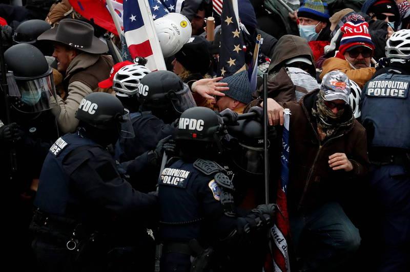 美國國會6日發生暴動,造成傷亡,引起國際譁然。(路透)