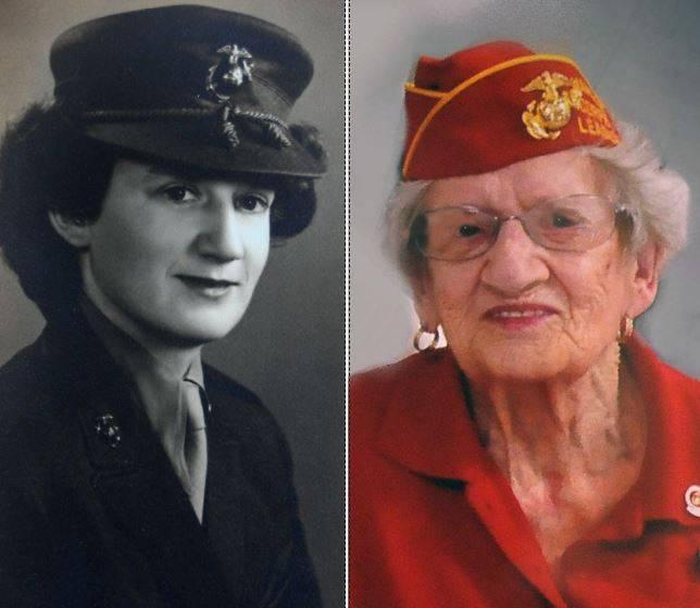 美國最長壽海軍陸戰隊老兵科爾(Dorothy Schmidt Cole),以107歲的高齡過世。(美聯社)