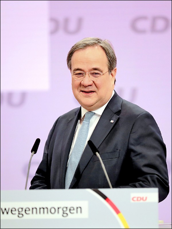 德國北萊因—西發利亞邦總理拉謝特,16日當選執政黨「基督教民主聯盟」新任黨魁。(路透)