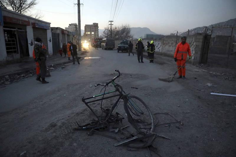 喀布爾今早驚傳槍響,2名阿富汗最高法院女法官在上班途中遭槍殺。恐怖襲擊示意圖,與本新聞無關。(法新社)