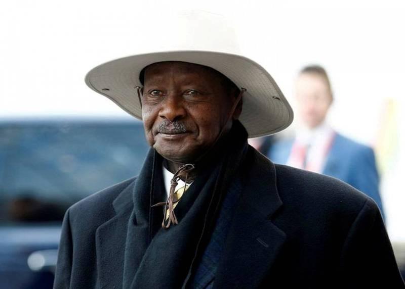 烏干達76歲總統穆塞維尼(Yoweri Museveni)成功連任6次,向執政40年邁進。(路透)