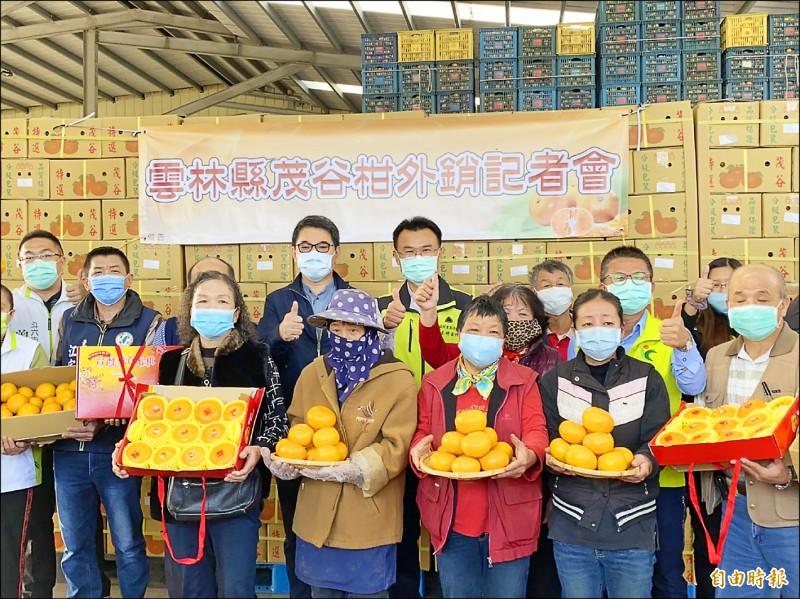 農委會啟動茂谷柑外銷措施,主委陳吉仲希望未來外銷能達產量10分之1。(記者詹士弘攝)