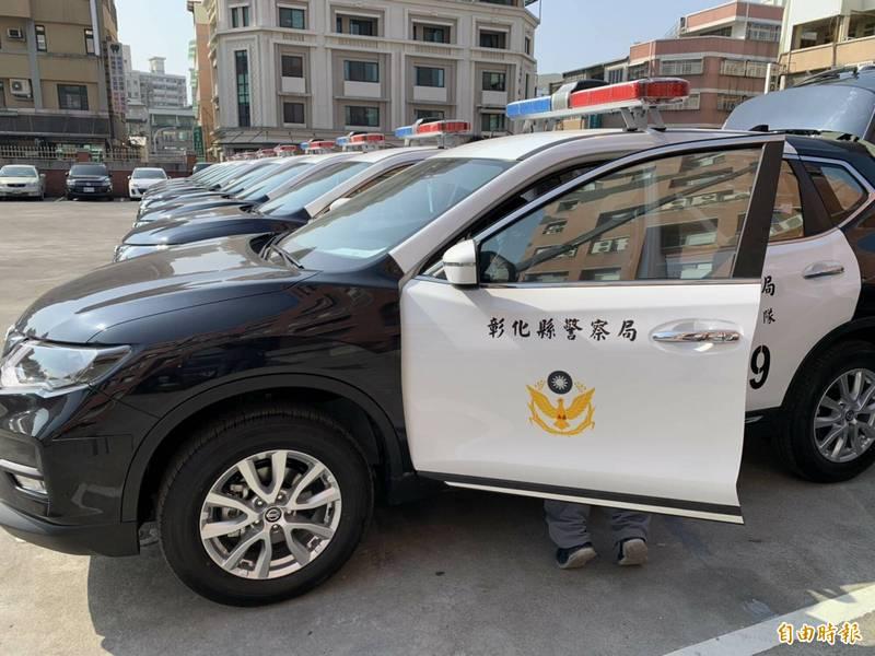 彰化縣警局購買65輛警車,首創讓轄區各單位依屬性票選不同廠牌款式的警車,執勤時能發揮最大功效。(記者湯世名攝)