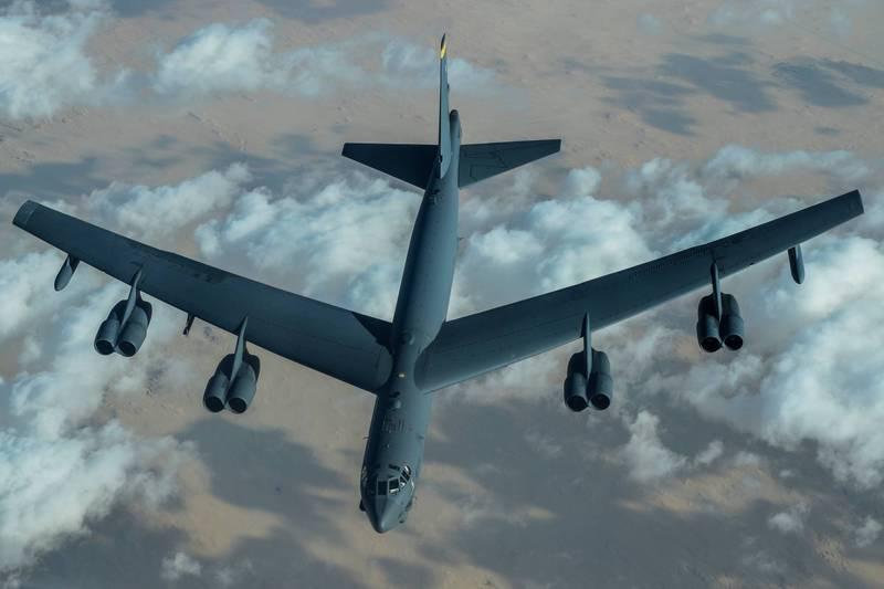 美國空軍於昨日宣布B-52戰略型轟炸機再次巡弋中東,美伊關係持續緊張。(圖擷自美國中央司令部官方推特)