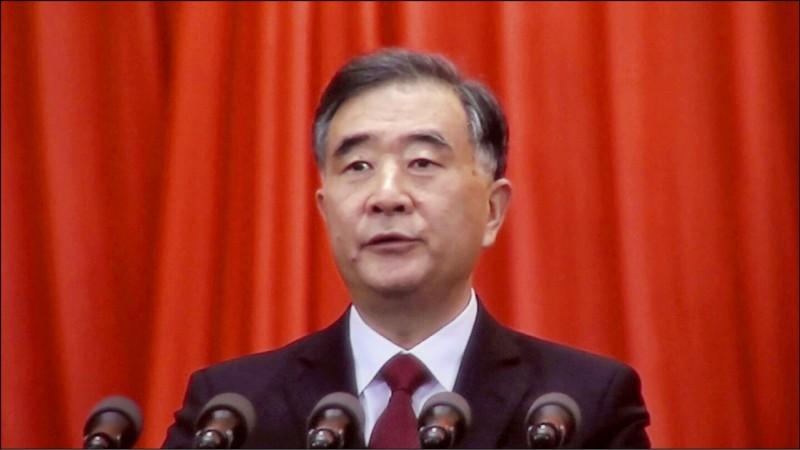 中國全國政協主席汪洋。(中央社資料照)