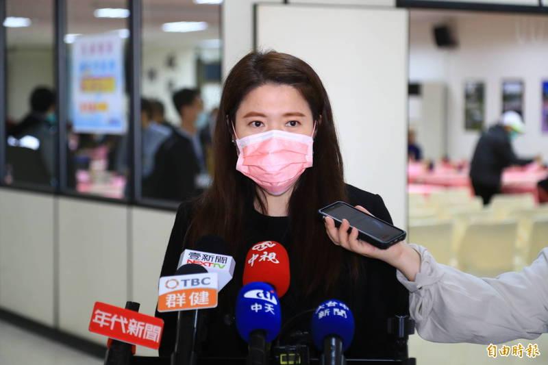 台中市府觀光旅遊局長林筱淇受訪。(記者張軒哲攝)