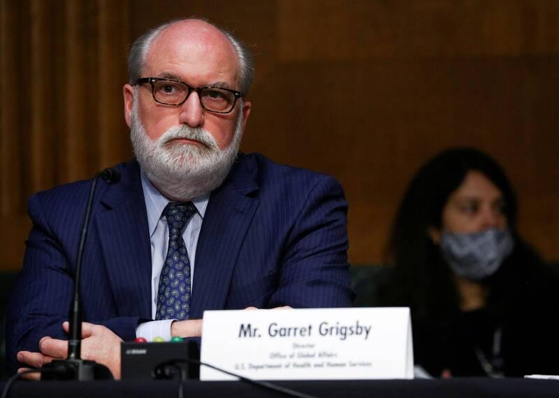 美國繼昨天在世界衛生組織執行委員會呼籲中國交出2019新型冠狀病毒資訊,今天進一步公開肯定台灣防疫經驗及貢獻,強調台灣應成為觀察員參與世衛組織。圖為美國衛生部全球事務辦公室主任格瑞斯比 (Garrett Grigsby)。(路透)