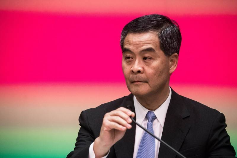 前香港特首梁振英近日接受港媒專訪時指稱,包含《中英聯合聲明》及《基本法》均清楚表示,行政長官可通過選舉或協商產生,並由中央政府任命。(法新社)