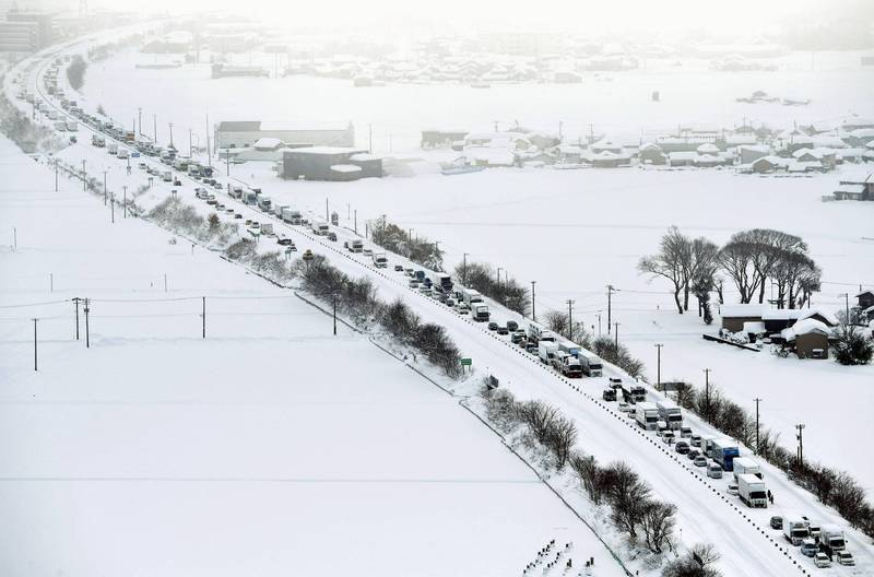 日本東北自動車道今午發生連環追撞車禍,多人受傷。圖為日本高速公路示意圖。(美聯社)