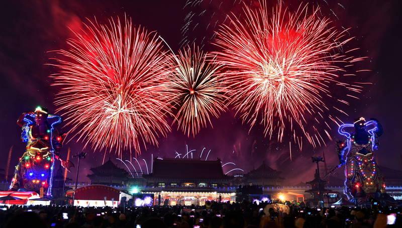 台南土城鹿耳門聖母廟宣布2021煙火秀暫停!(台南土城鹿耳門聖母廟提供)