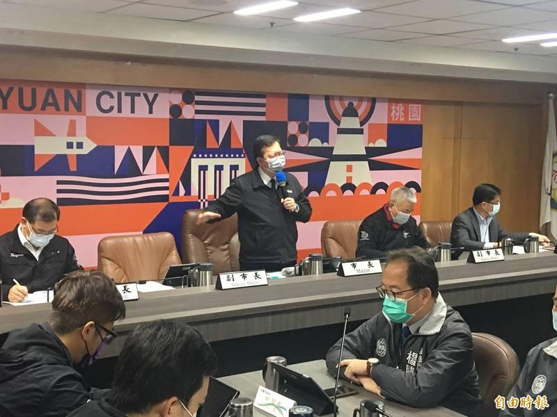 對於武陵高中高三學生畢旅,市長鄭文燦已經裁示延後。(記者謝武雄攝)