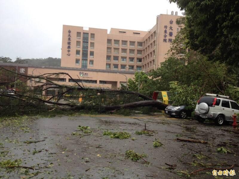 台大竹東醫院外觀。(資料照,記者黃美珠攝)