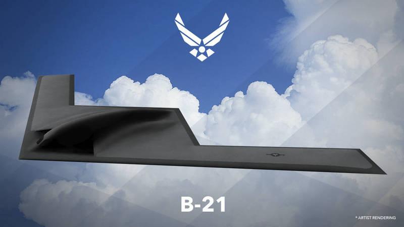美國空軍快速反應能力辦公室主任蘭瓦爾登近日表示,美軍首架B-21轟炸機還在組裝中,估最快明年中進行首飛,圖為B-21轟炸機構想圖。(美聯社資料照)