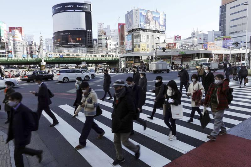 東京都累計確診病例數正式突破9萬大關。圖為東京街景。(美聯社)