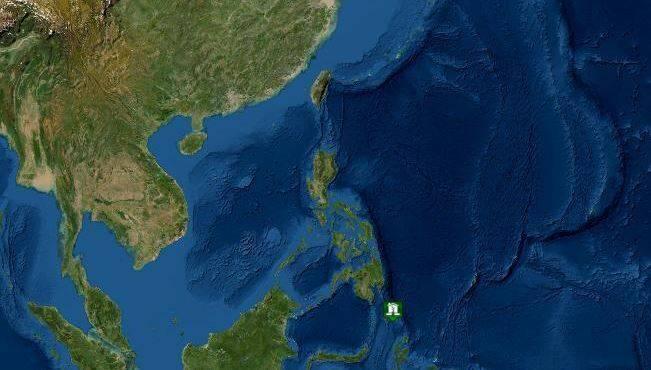 菲律賓附近海域發生芮氏規模7.0地震。(圖取自NOAA)