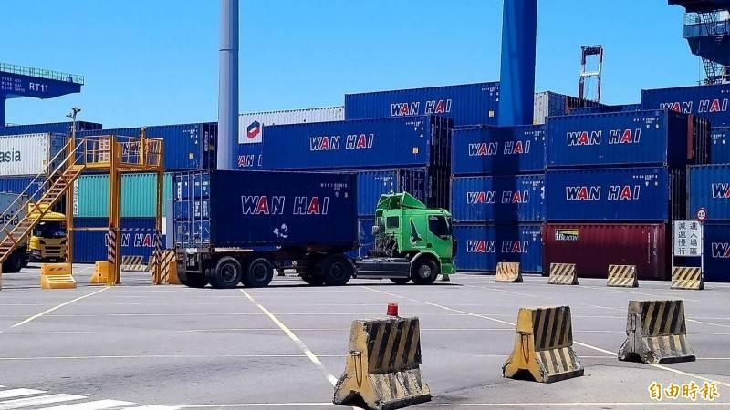因應海運缺櫃、塞港,交通部採國輪挺國貨等4大措施因應 。(資料照)