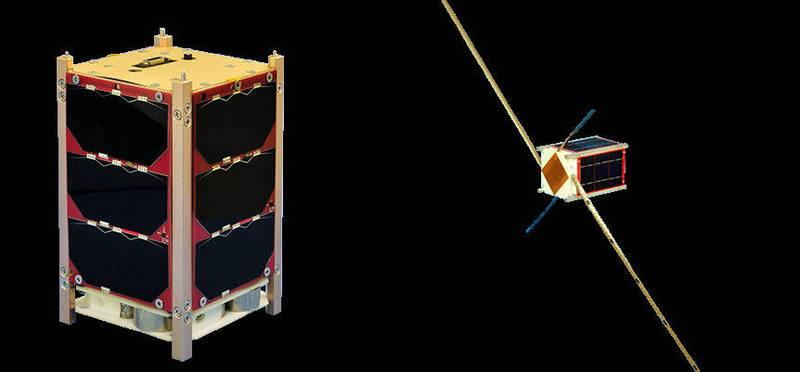 圖為由騰暉等公司研製的玉山衛星。(太空中心提供)