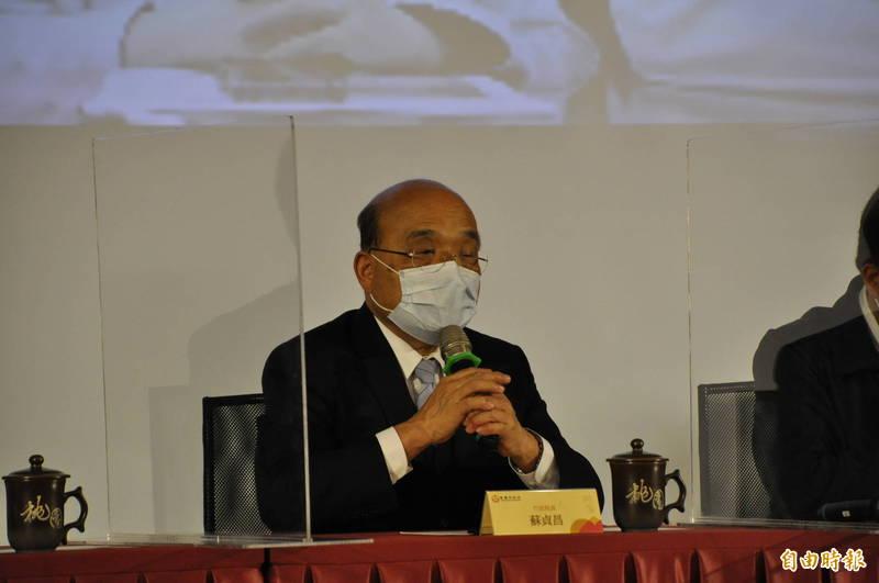 行政院長蘇貞昌出席桃園市急救責任醫院區域聯防院長會議。(記者周敏鴻攝)
