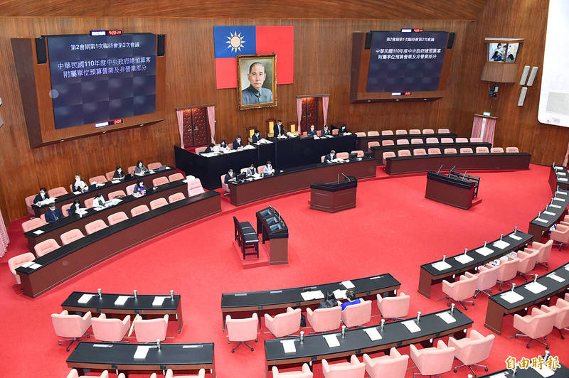 The legislative chamber at the Legislative Yuan in Taipei is pictured on Wednesday. Photo: Tu Chien-jung, Taipei Times