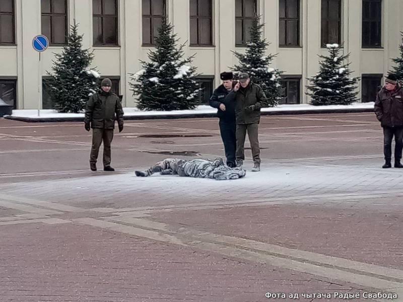 白羅斯傳自焚案 首都廣場35歲男子緊急送醫