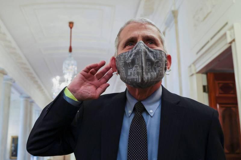 美國國家過敏與傳染病研究院院長佛奇持續擔任新政府防疫核心。(路透)