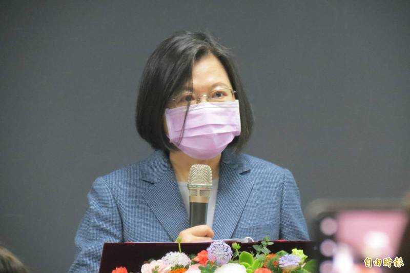 疫情升溫,蔡總統今再喊話:保持冷靜、相信專業、一起守護台灣。(記者蘇孟娟攝)