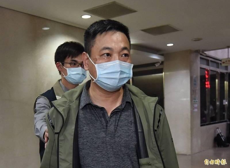 台灣微軟公司前經理張銘芳80萬元交保。(記者劉信德攝)