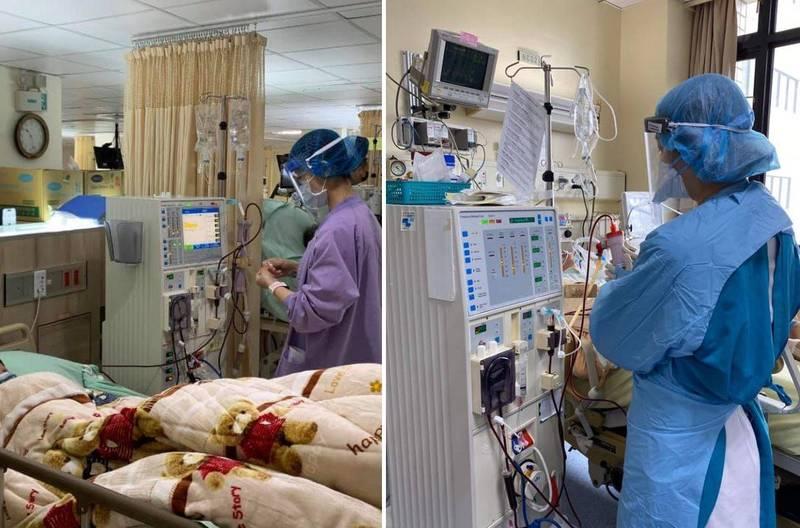 王必勝在臉書上PO出院內照片,並發表第6天的心得,他除了向桃園市長鄭文燦表達感謝,也向受到影響的病人致上歉意,並盼望醫院早日解除危機。(圖翻攝自臉書)