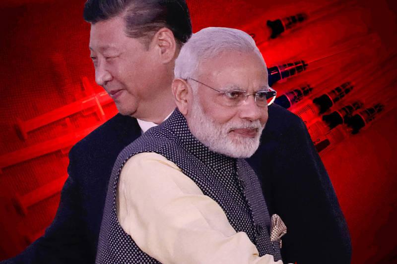 中國、印度關係緊張,圖為中國國家主席習近平與印度總理莫迪。(本報合成)